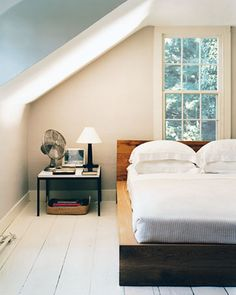 wide-planked, white-painted floors