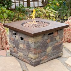 Red Ember Galiano Propane Fire Pit Table - Fire Pits at Hayneedle Outdoor Propane Fire Pit, Outdoor Fire Pit Table, Gas Fire Pit Table, Outdoor Living, Outdoor Decor, Outdoor Furniture, Square Fire Pit, Fire Bowls, Gas Fires