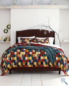 Jewel Box Patchwork Quilt Collection from Garnet Hill Tree Branch Decor, Comfy Bed, Jewel Box, Quilt Sets, Bed Spreads, Family Room, Quilts, Bedroom, House Styles