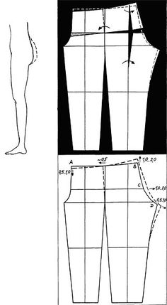 Bodice Pattern, Pants Pattern, Diy Clothing, Clothing Patterns, Plus Size Sewing Patterns, Sewing Alterations, Sewing Pants, Dress Making Patterns, Sewing Lessons