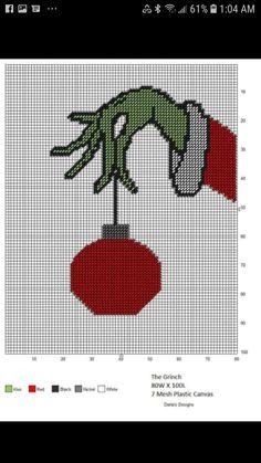Plastic Canvas Christmas, Plastic Canvas Patterns, Christmas Projects, Grinch, Elephants, Needlepoint, Cross Stitch Patterns, Needlework, Crochet