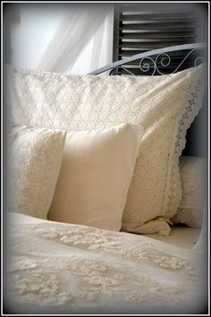 lace bedclothes - my shabby white home