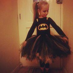 Who says only boys can be superheros! Batman here I come! #batman #halloween #tutu #dressup
