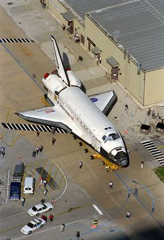 The orbiter Discovery shown as it rolls over to the Vehicle Assembly Building on Sept. 14, 1998.