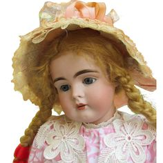 "German Kestner Doll Mold 161 Rare to find! Cabinet size 18 ½"" in original Kestner body. Sweet and shy little Girl available on Layaway."
