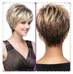 Short Thin Hair, Short Hair With Layers, Short Hair Cuts For Women, Short Hairstyles For Women, Short Hair Styles, Thick Hair, Short Stacked Hairstyles, Short Hair Over 50, Stacked Haircuts