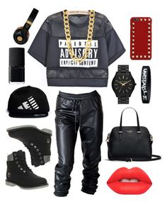 """Studio"" by ashlt ❤ liked on Polyvore featuring Timberland, LPD NEW YORK, MICHAEL Michael Kors, Valentino, NARS Cosmetics, MCM and Lime Crime"