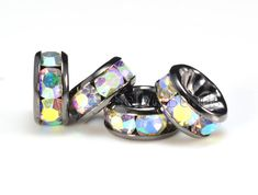 AB coated rhinestone bead AB coated crystal bead by SelectBeads