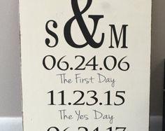 Family birthdays sign with monogram Custom by KristynsKraftyness