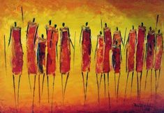 """David Ndambuki, """"The Maasai,"""" oil on canvas, #african #art"""