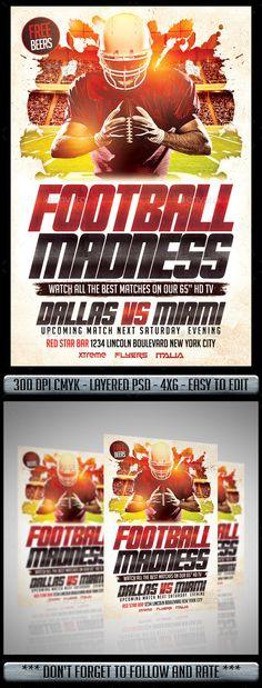 American Football League Flyer Template American football league