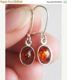 SUPER SALE 20% Amber Earrings  Silver earrings  Genuine