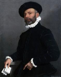 MORONI, Giovanni Battista - Portrait of a Man holding a Letter (L'Avvocato)