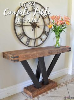 Build a rustic console table from simple 2x4 lumber. Free plans and building tutorial.