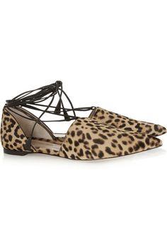 a93a69b1f42b Gianvito Rossi Slight heel Leopard-print calf hair