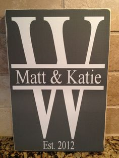 Custom Last Name Initial Monogram Sign - Great Family Sign For Wedding, Anniversary Or Just Because on Etsy, $12.00