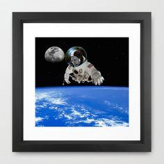 Jason Wing in orbiting Framed Art Print by seb mcnulty - $32.00