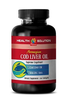 Energy Booster - Norwegian COD Liver Oil with Vitamins A & & DHA - Fish Oil Omega 3 dha epa - 1 Bottle 250 Softgels Brain Supplements, Weight Loss Supplements, Black Currant Oil, Fat Burning Pills, Diet Pills That Work, Cod Liver Oil, Energy Boosters, Fish Oil, Omega 3