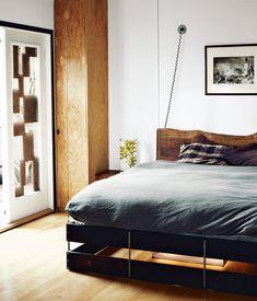 House Tour: Vincent Kartheiser's Compact Masculine Cabin   Man Made DIY   Crafts for Men   Keywords: decor, house, architecture, home