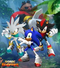 Sonic Boom Sonic, Shadow, and Silver and transparent Eggman pic