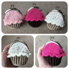 Cupcake Coin Purse Crochet Pattern