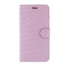 Magnetic Flip Textured PU Leather Case Hard PC Back Cover Skin Pouch Ultra Slim Card Slot for Apple iPhone 6 Plus 5.5 Pink