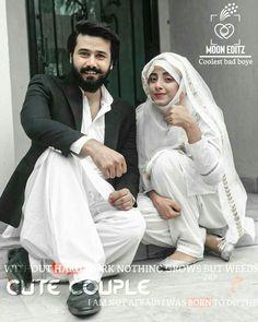 Couple Dps, Cute Couple Images, Cute Love Couple, Couples Images, Cute Couples, Bad Attitude Quotes, Boys Dps, Muslim Couples, Hero
