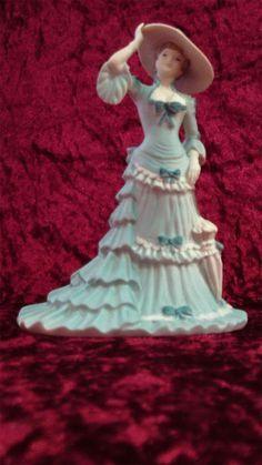 Coalport Bone China Figurine Beau Monde 'Juliette' Modelled by Andy Moss c1996 - Artmosphere Antiques Battlesbridge Essex