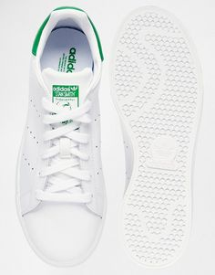 official photos c449c 11201 adidas Originals Stan Smith White   Green Trainers