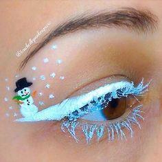 Really cool - frozen snowman makeup