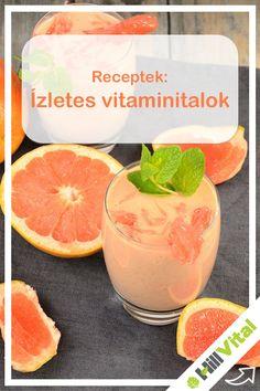 Hozzávalók: 1 narancs, egy fél grapefruit, 1 alma, méz, fahéj A megtisztított gyümölcsöket apróra vágjuk, majd adjunk hozzá egy kis vizet. Ezután beletesszük a mézet és a fahéjat. Magas fokozaton jól összeturmixoljuk, majd 10 percre hűtőbe tesszük. Juicing For Health, Milkshake, Stay Fit, Grapefruit, Smoothies, Vitamins, Juice, Healthy Eating, Drinks
