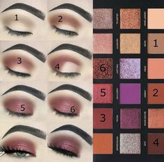 This eye makeup tutorial by Ashley Haw with the Huda Beauty Desert Dusk Palette is so beautiful We have serious brow envy though . Make sure you use in your posts to notify us of new beauty launches Dark Eye Makeup, Skin Makeup, Eyeshadow Makeup, Revlon Eyeshadow, Simple Eyeshadow, Natural Makeup, Golden Eyeshadow, Pink Eyeshadow, Eyebrow Makeup