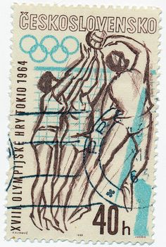 Volleyball postage stamp