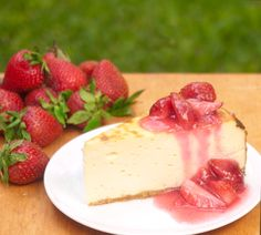 Strawberry Cheesecake  - Low Carb, Gluten Free, Sugar Free  - By Preheat to 350˚