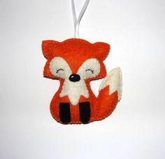 Cute Wool Felt Fox Ornament Fox Ornament Baby Shower Gifts