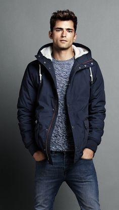 Blue hoodie jacket