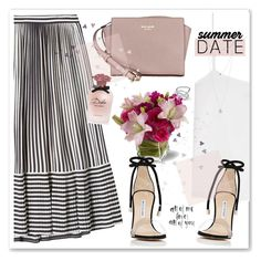 Summer Date by nantucketteabook on Polyvore featuring polyvore fashion style T By Alexander Wang Marco de Vincenzo Manolo Blahnik Kate Spade Jennifer Fisher Lucky Brand Dolce&Gabbana clothing Summer DateNight stripes date