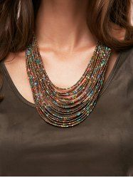 Trendy Bohemia Multilayer Beads Chain Necklace For Women - Customer Service - Ideas of Selling A Home Tips - Trendy Bohemia Multilayer Beads Chain Necklace For Women Beaded Statement Necklace, Seed Bead Necklace, Seed Bead Jewelry, Multi Strand Necklace, Diy Necklace, Necklace Designs, Boho Jewelry, Jewelry Crafts, Handmade Jewelry