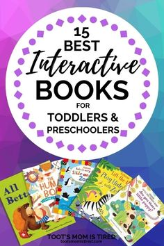 15 Best Interactive Books for Toddlers and Preschoolers - Toot's Mom is Tired | cute fun books for toddlers and preschoolers. Books that let kids play along. Great for one year olds, two year olds, three year olds, four year olds. Pre-school Books, Good Books, Learning To Write, Kids Learning, Toddler Preschool, Preschool Activities, Two Years Old Activities, Interactive Books For Kids, Everything Preschool