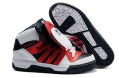 Adidas Jeremy Scott 3 Tongue Black Red White