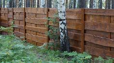 Деревянные заборы, дизайн, фото