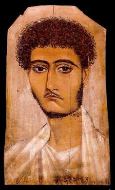 Mummy Portrait Week! Funerary Portrait Painting of a Young Man from the Roman Period