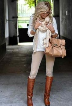 Tan skinny jeans outfit, so cute! Cute Fall Outfits, Fall Fashion Outfits, Outfits 2014, Fashion 2014, Womens Fashion, Fashion Ideas, Winter Outfits, Fashion Inspiration, Tan Skinny Jeans
