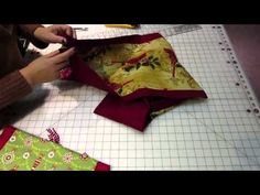 Easy to make Table Runner! - YouTube-accent color borders runner with triangle ends and tassels