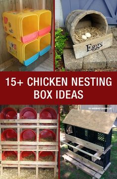 15+ Chicken Nesting Box Ideas: http://www.mychickencoop.net/15-chicken-nesting-box-ideas/