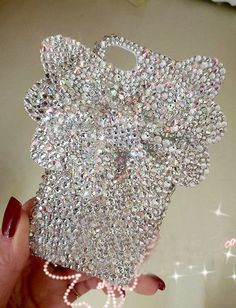 Bling 3D flower Iphone 5 case swarovski iPhone 4 case cover iphone 4s case bling samsung galaxy s4 phone case galaxy s2 s3 case note 2 case