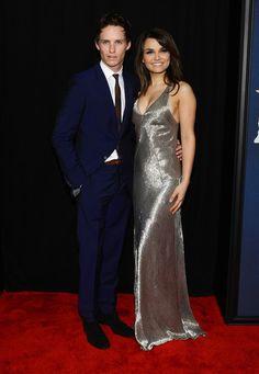 Co-stars Eddie Redmayne and Samantha Barks wow at a red carpet premiere for  Les Miserables. I love Samantha's slinky silver dress. #redcarpet