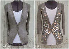 how to make a paillette sweater collage by KristinaJ., via Flickr