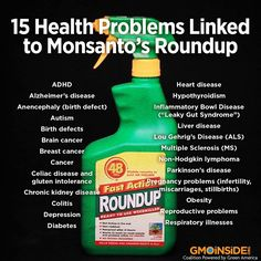 Monsanto is linked to to 15 major Health Issues