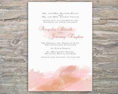 DIY Watercolor Invitations Bridesmaid | Printable Watercolor Invitation DIY For Wedding Or Special Event on ...